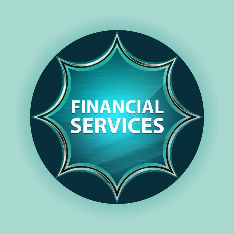 Предпосылка волшебной стекловидной sunburst голубой кнопки финансовых обслуживаний небесно-голубая стоковые изображения rf