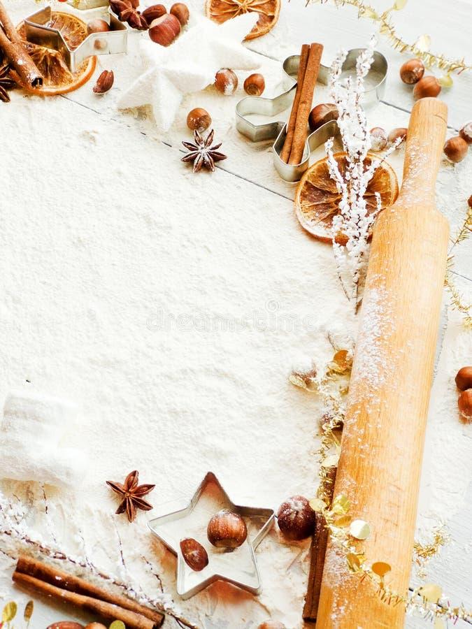 Предпосылка выпечки рождества стоковое фото rf