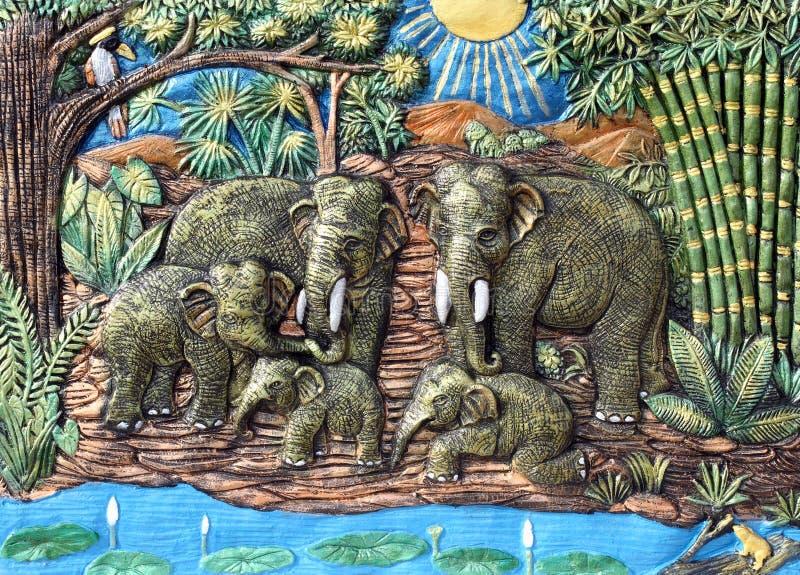 предпосылка высекая текстуру слона стоковые изображения rf