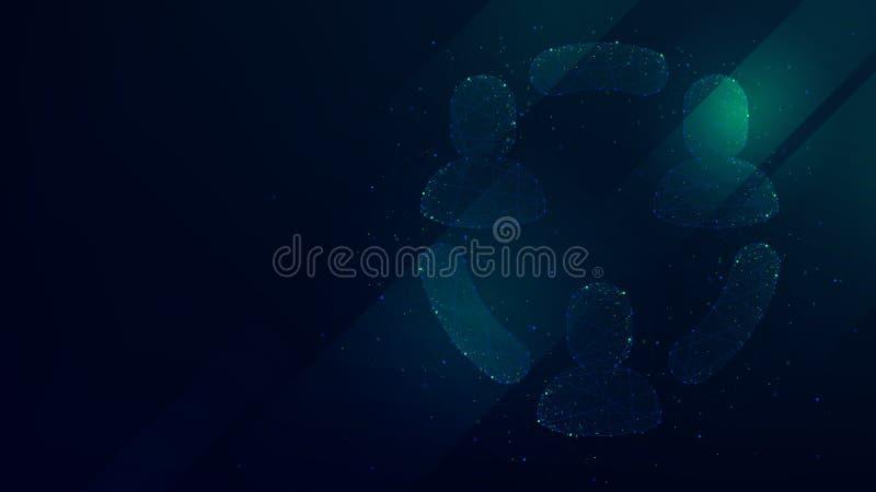 предпосылка Высок-техника с значком облака загрузки, иллюстрацией концепции сыгранности дела иллюстрация вектора