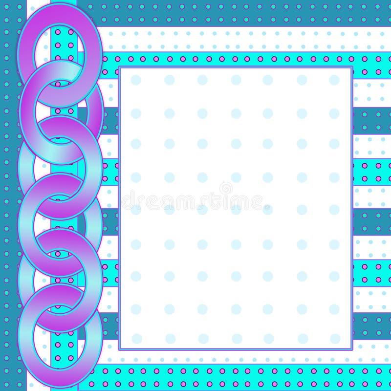 Предпосылка в абстрактных картинах включая цепь пурпурного aqua голубую иллюстрация штока