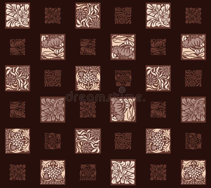 Предпосылка геометрического флористического квадрата конспекта темная иллюстрация вектора