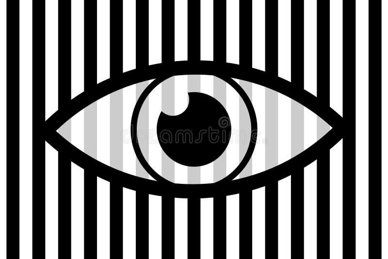 Предпосылка глаза абстрактная иллюстрация вектора