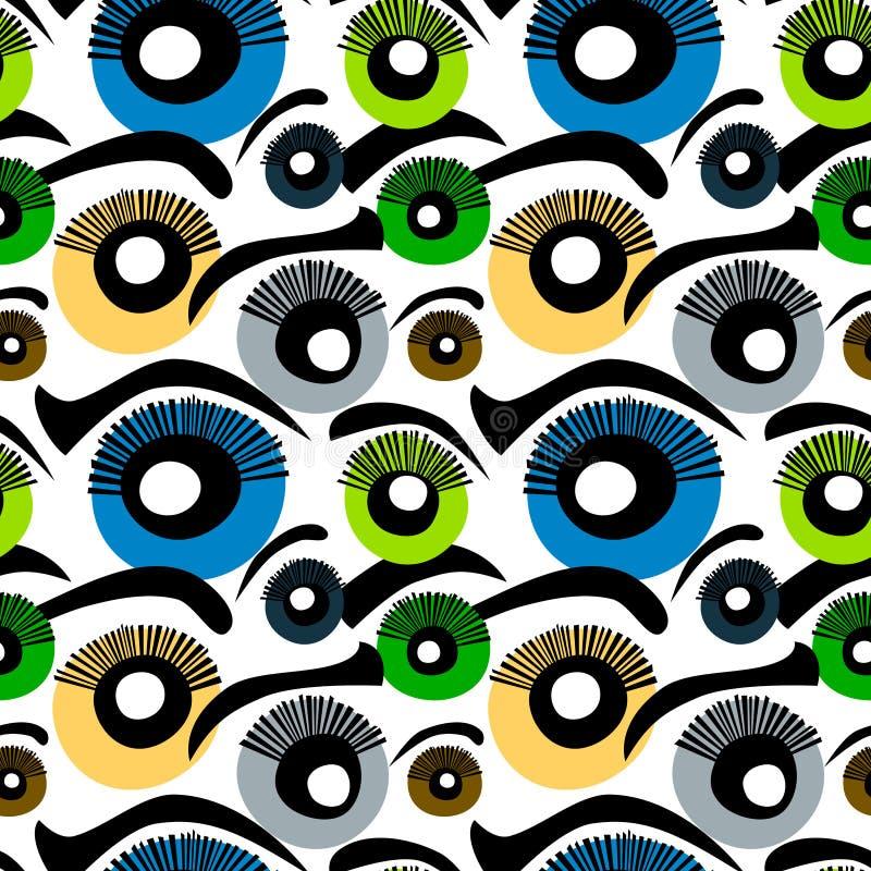 Предпосылка глаз безшовная иллюстрация штока