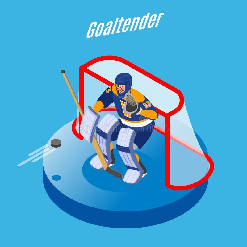 Предпосылка голкипера хоккея равновеликая бесплатная иллюстрация