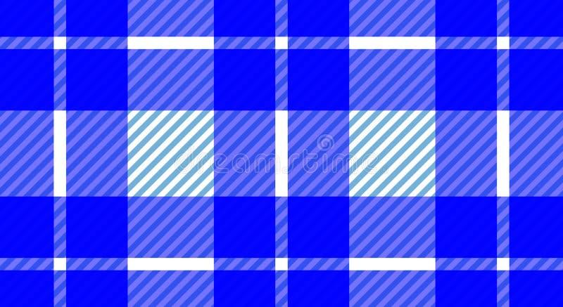Предпосылка голубой и белой холстинки скатерти checkered Текстура f стоковое изображение
