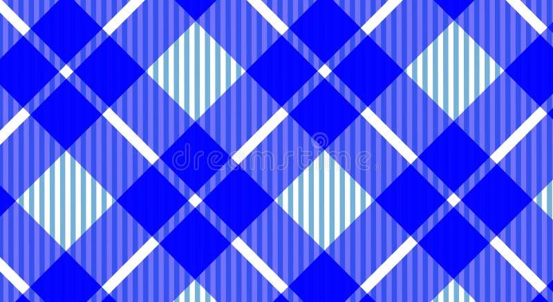 Предпосылка голубой и белой холстинки скатерти checkered Текстура f стоковое фото rf