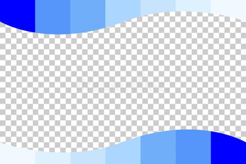 Предпосылка - голубой постепенно бар на прозрачной предпосылке влияния иллюстрация вектора