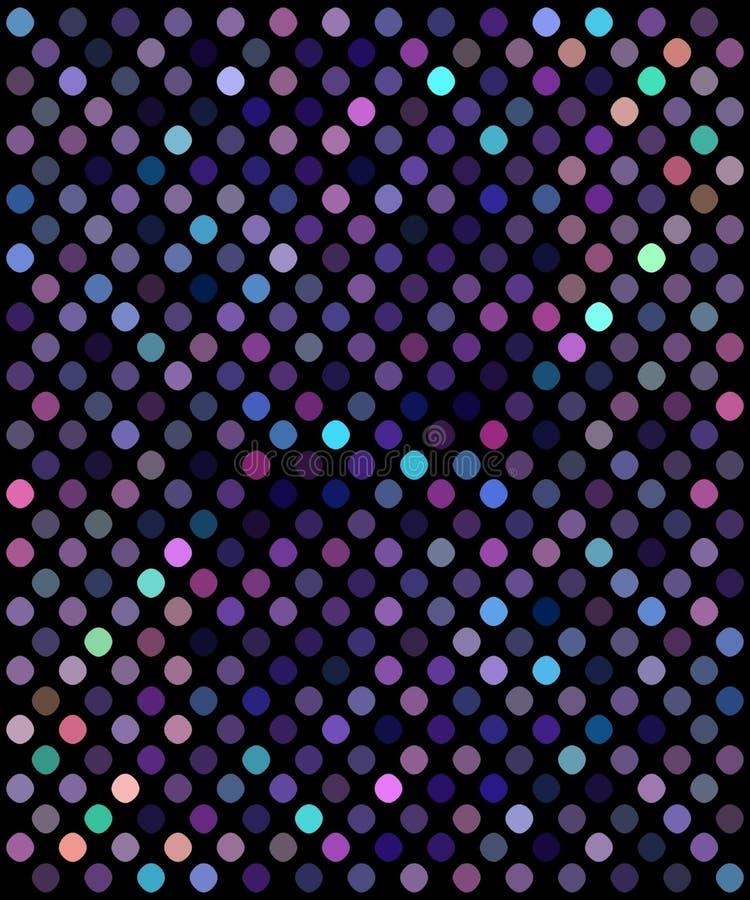 Предпосылка голубой фиолетовой мозаики сирени яркого блеска праздничная Покрашенная картина неоновых свет shimmer бесплатная иллюстрация