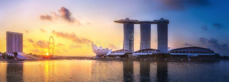 Предпосылка горизонта Сингапура стоковые изображения
