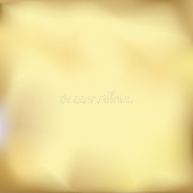 Предпосылка градиента металла конспекта пропуская золотая Иллюстрация запачканная вектором иллюстрация вектора