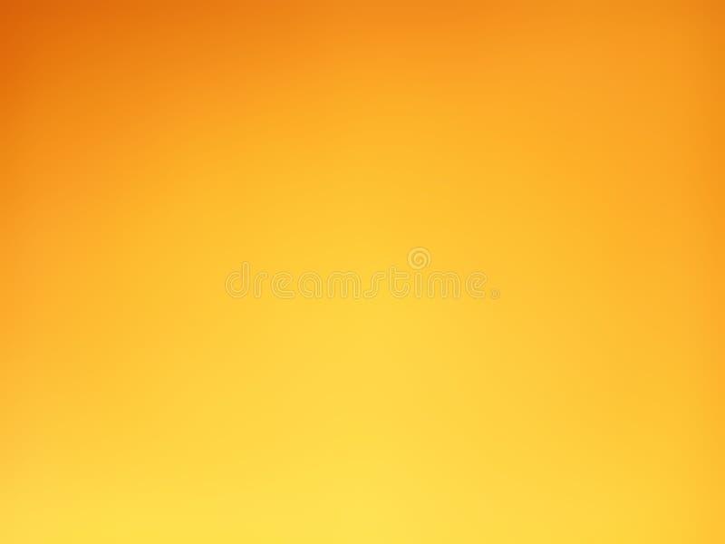 Предпосылка градиента оранжевая и желтая запачканная стоковое изображение rf