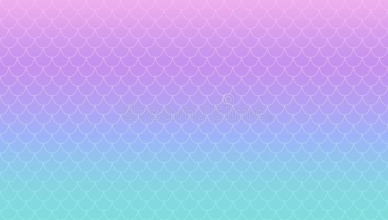 Предпосылка градиента пурпурной бирюзы волшебная Русалка перламутра Kawaii Кабель радужной принцессы бесплатная иллюстрация