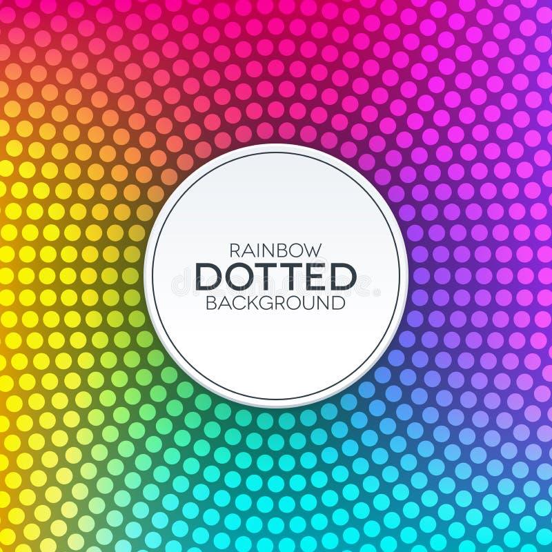 Предпосылка градиента радуги с круговой поставленной точки текстурой бесплатная иллюстрация