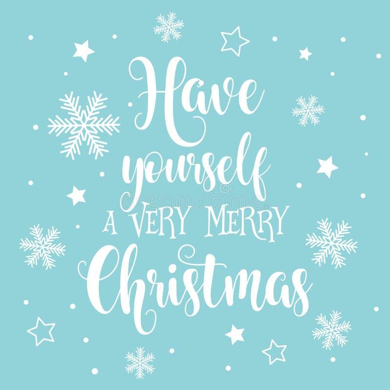 Предпосылка декоративного текста рождества и Нового Года бесплатная иллюстрация