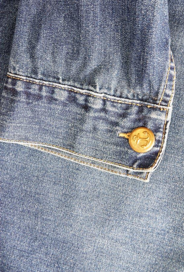 Предпосылка джинсовой ткани стоковое изображение