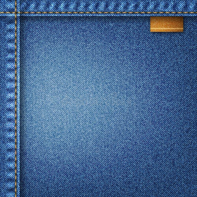 Предпосылка джинсыов иллюстрация вектора