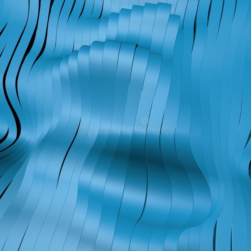 Предпосылка диапазона волны поверхностная абстрактная Иллюстрация цифров 3d бесплатная иллюстрация