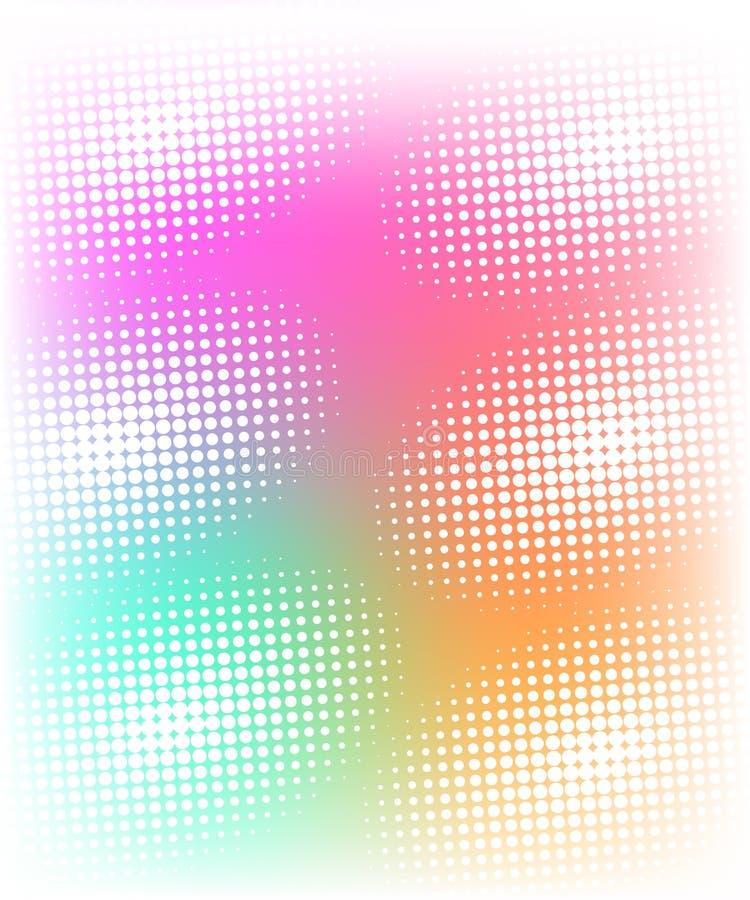 Предпосылка дизайна полутонового изображения multicolor на белизне иллюстрация штока