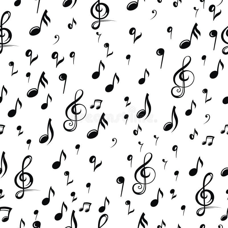 Предпосылка дизайна примечания музыки также вектор иллюстрации притяжки corel иллюстрация штока