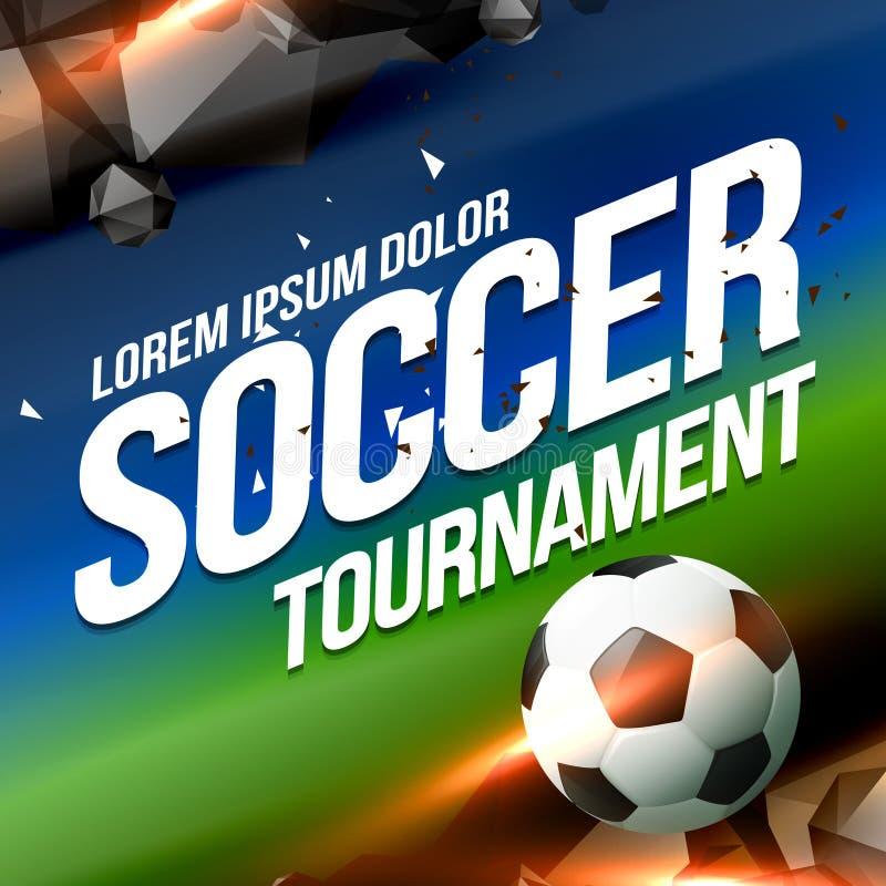 Предпосылка дизайна рогульки плаката игры турнира футбола иллюстрация вектора