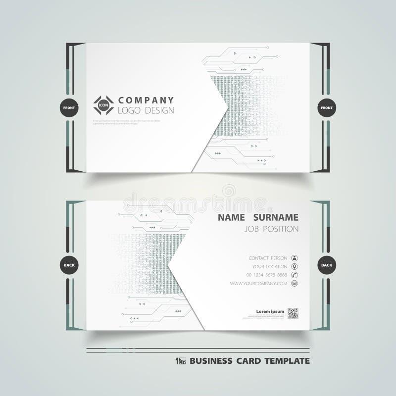 Предпосылка дизайна шаблона карты имени конспекта новая цифровая футуристическая для корпоративного r бесплатная иллюстрация