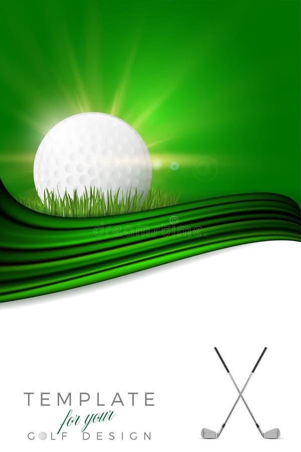 Предпосылка для вашего дизайна гольфа с шаром для игры в гольф бесплатная иллюстрация
