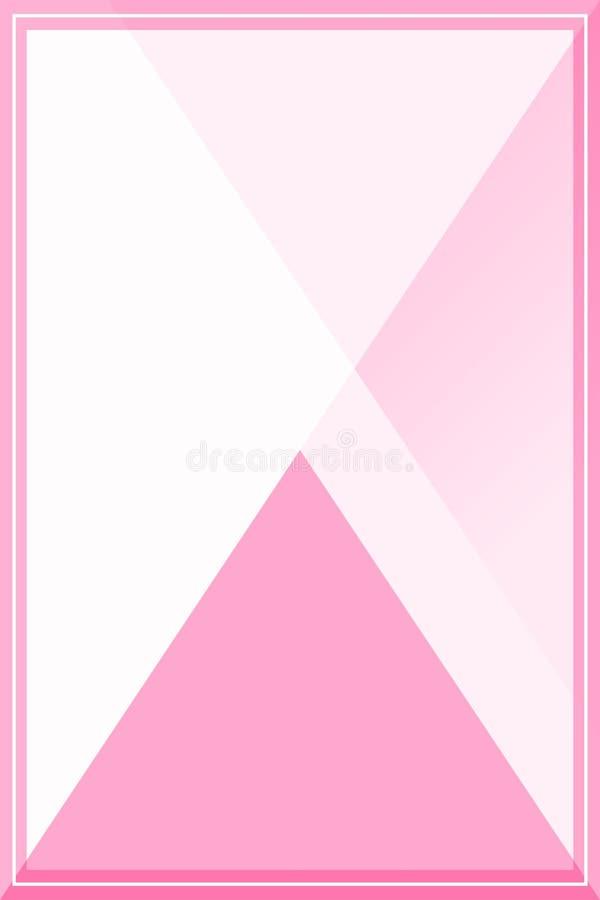 Предпосылка для знамени, пастельный цвет рамки шаблона мягкая розовая пастельная пинка рамки плоско кладет стиль для рекламироват иллюстрация штока