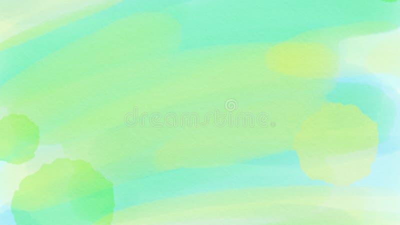 Предпосылка для webdesign, красочная запачканная предпосылка внушительной абстрактной акварели зеленая и голубая, обои иллюстрация вектора