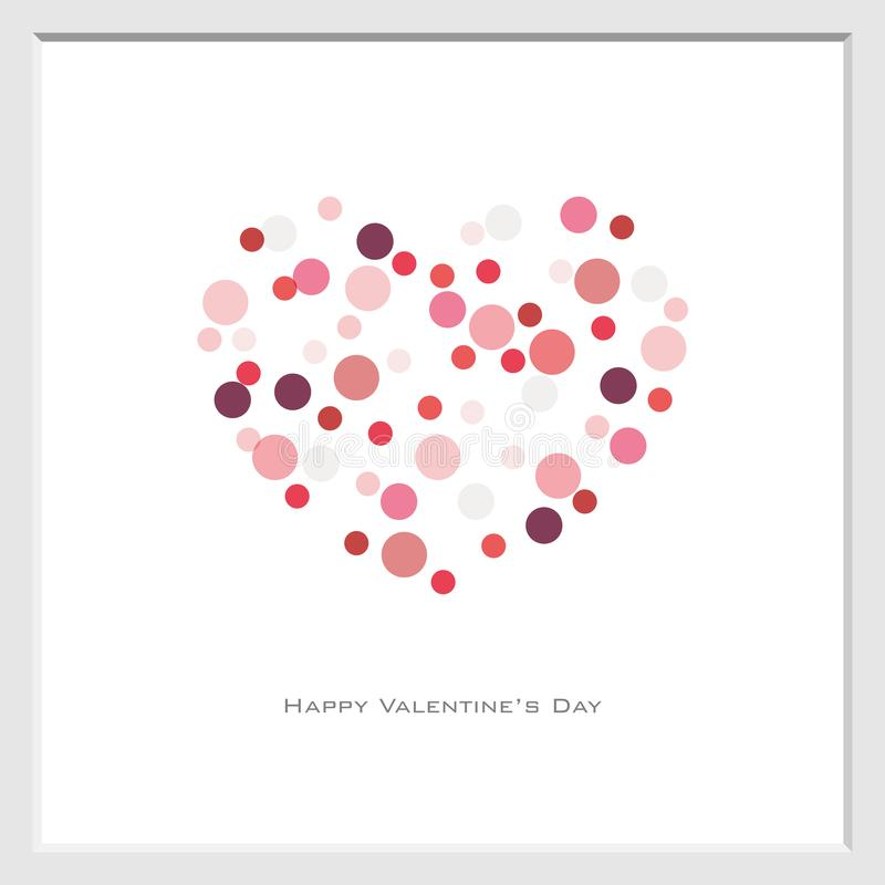 Предпосылка дня Валентайн со случайным стилем точки круга в красно-тоне, векторе, летчике, приглашении, плакатах, брошюре, знамен бесплатная иллюстрация