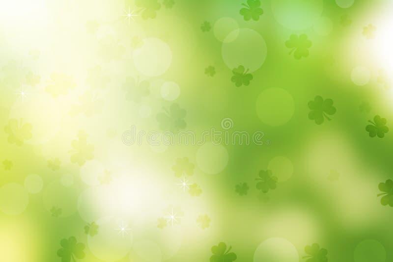 Предпосылка дня ` s St. Patrick Shamrock иллюстрация вектора