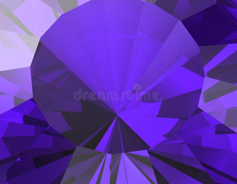 Предпосылка драгоценной камня ювелирных изделий фасетка рубин иллюстрация вектора