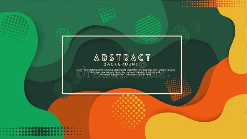 Предпосылка жидкостного цвета ступенчатости абстрактная Футуристический и элегантный дизайн бесплатная иллюстрация