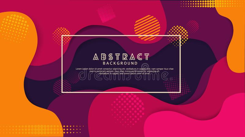 Предпосылка жидкостного цвета ступенчатости фиолетового абстрактная Футуристический и элегантный дизайн иллюстрация вектора