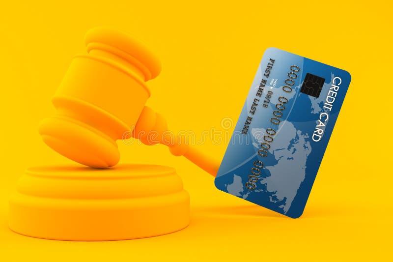 Предпосылка закона с кредитной карточкой иллюстрация штока