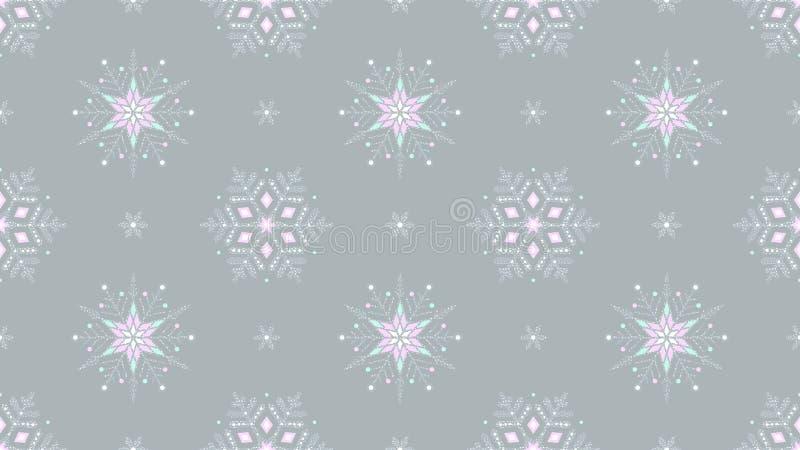 Предпосылка замороженного grunge снежинок богато украшенного серая безшовная стоковые изображения rf