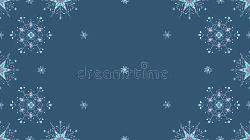 Предпосылка замороженного grunge снежинок богато украшенного серая безшовная стоковое фото