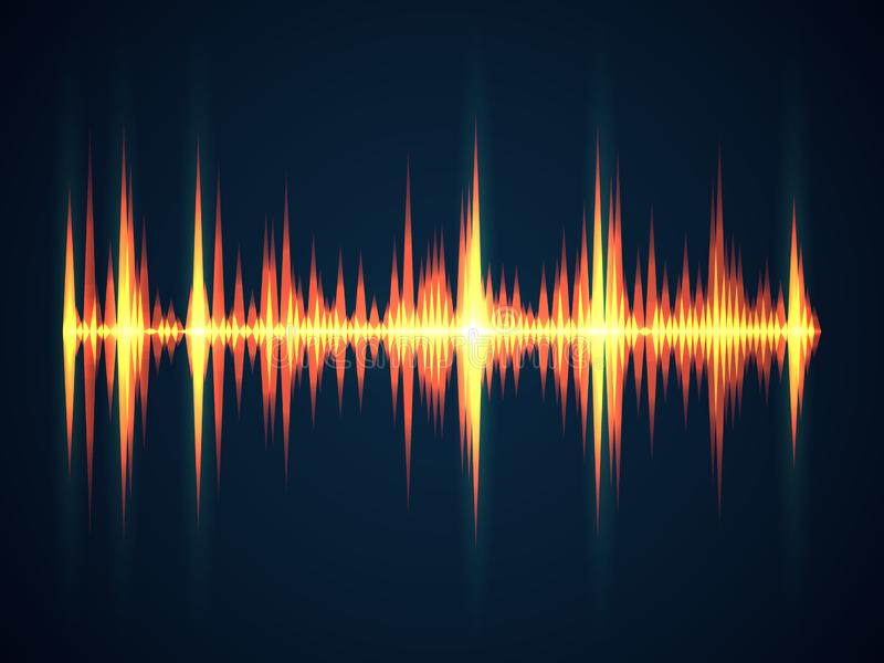Предпосылка звуковой войны Электричества wireframe выравнивателя звука музыки волны цифрового технологические для студии цифровой бесплатная иллюстрация