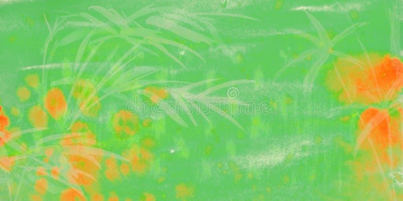 Предпосылка зеленого цвета акварели иллюстрация штока
