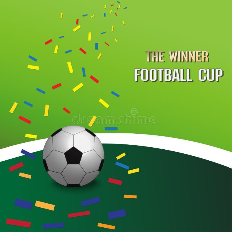 Предпосылка зеленого цвета футбола чемпионата футбола бесплатная иллюстрация
