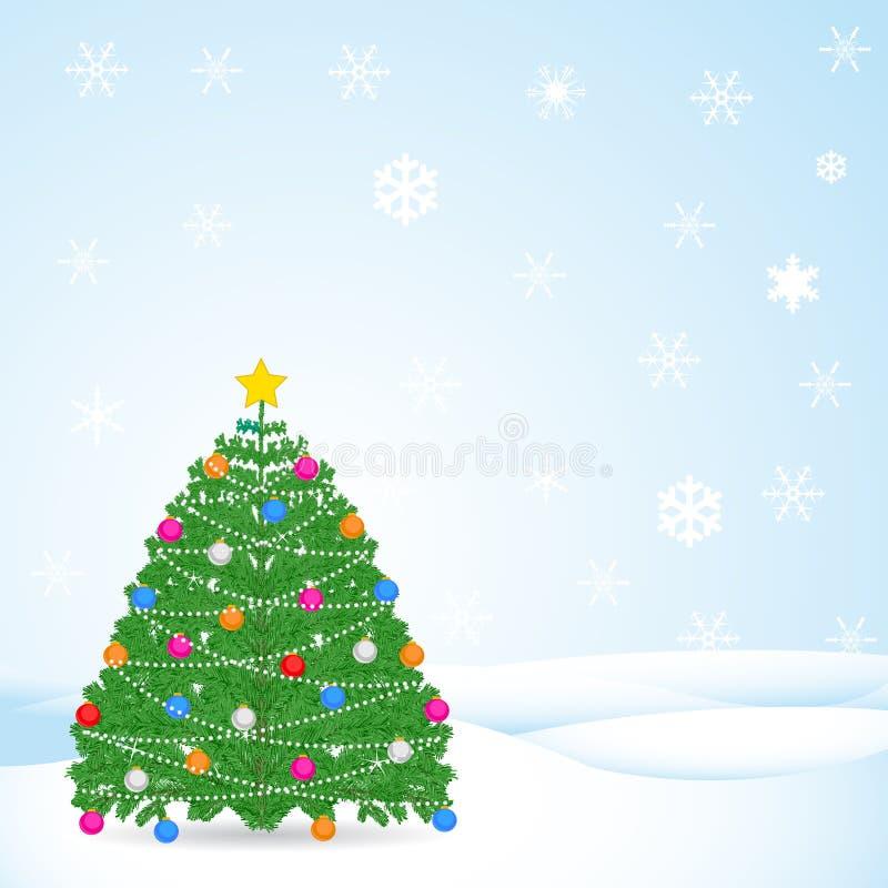 Предпосылка зимы рождества иллюстрация штока