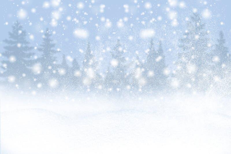 Предпосылка зимы снега и заморозок с открытым космосом для вашего украшения : стоковые фото