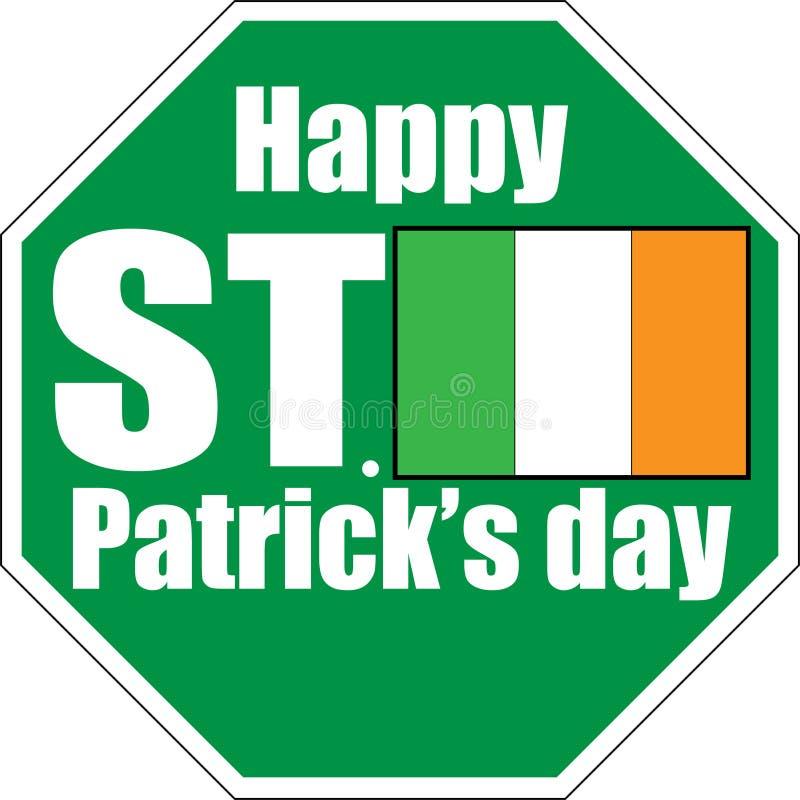 предпосылка знака зеленого цвета дня St. Patrick белая иллюстрация штока