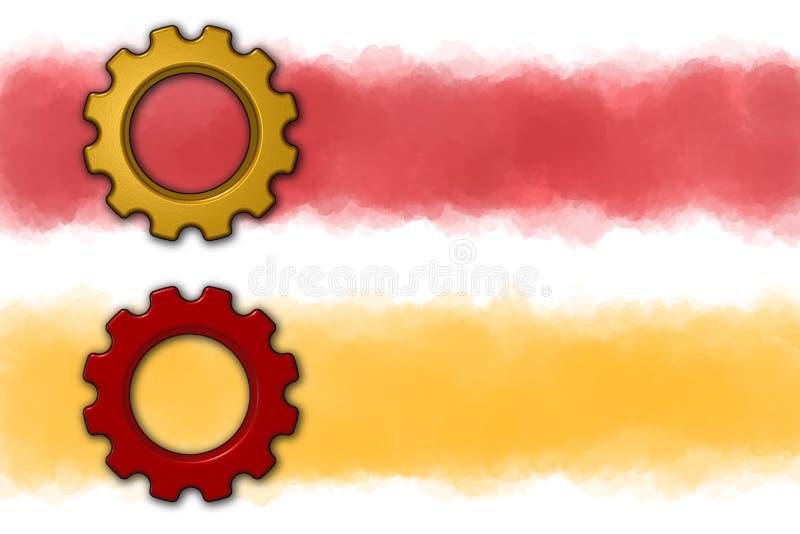 Предпосылка знамени колеса шестерни иллюстрация вектора