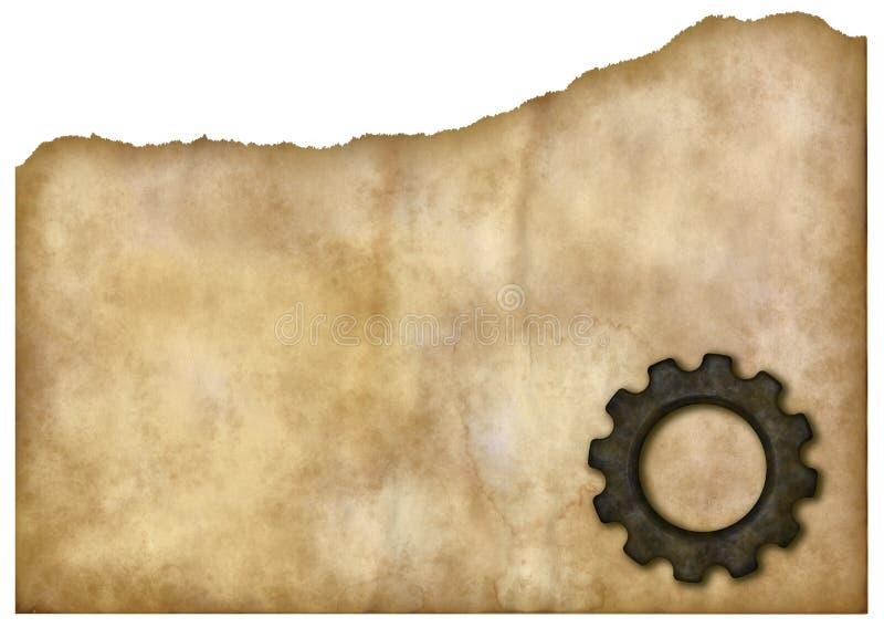 Предпосылка знамени колеса шестерни бесплатная иллюстрация
