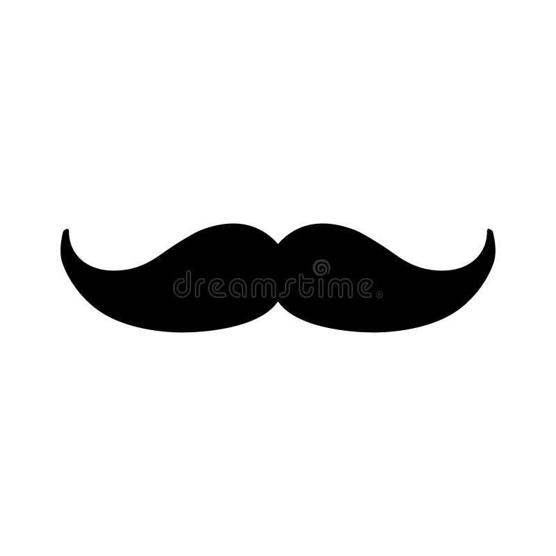 Предпосылка значка усика вектора Мужеский, мужской, элемент моды отца на белизне - Архив вектора иллюстрация вектора