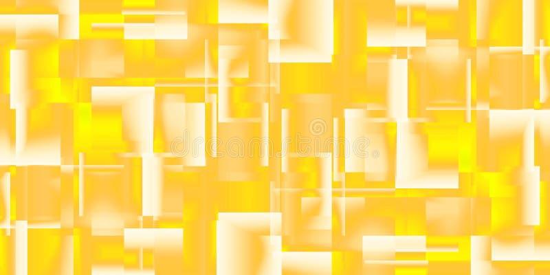 Предпосылка золота лоснистых квадратов иллюстрация штока