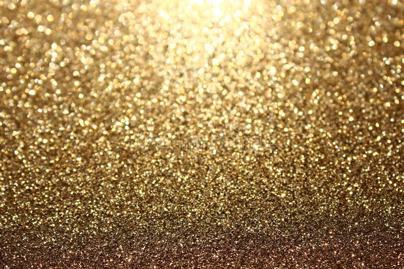 Предпосылка золота glittery стоковая фотография rf