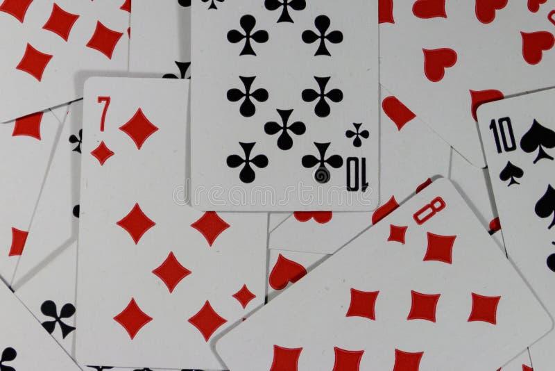 Предпосылка играя карточек стоковые изображения
