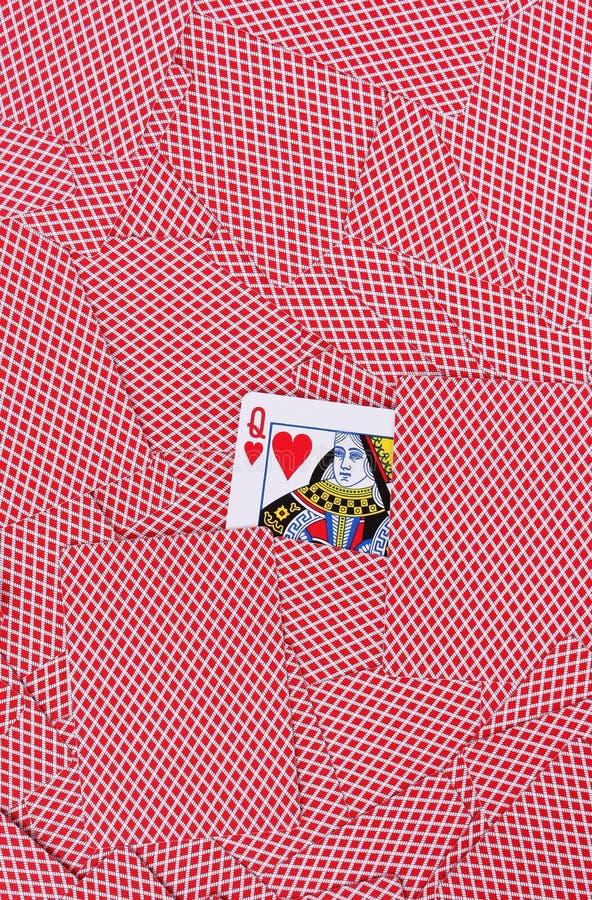 Предпосылка играя карточек стоковые фотографии rf